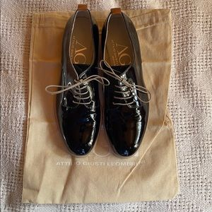 NIB Attilio Giusti Leombrini leather oxfords flats